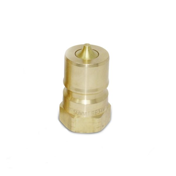 3/4″ NPT ISO 7241-B Brass Quick Disconnect Hydraulic Male Coupler