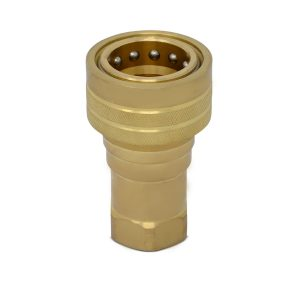 3/8″ NPT ISO 7241-B Brass Quick Disconnect Hydraulic Female Coupler
