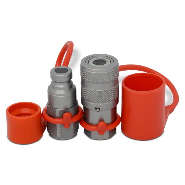 "1/4"" Flat Face Hydraulic Quick Connect Coupler Set, 1/4"" NPT Thread"