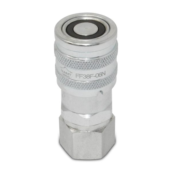 3/8″ Flat Face Hydraulic Quick Connect Female Coupler, 3/8″ NPT Thread