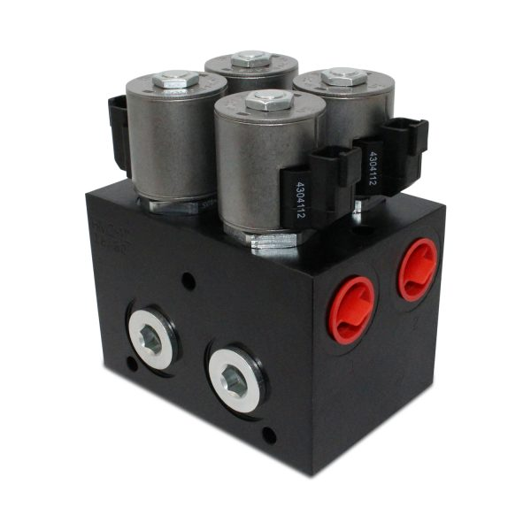 High Flow Hydraulic Multiplier Diverter Selector Valve w/ Controller, 40 GPM