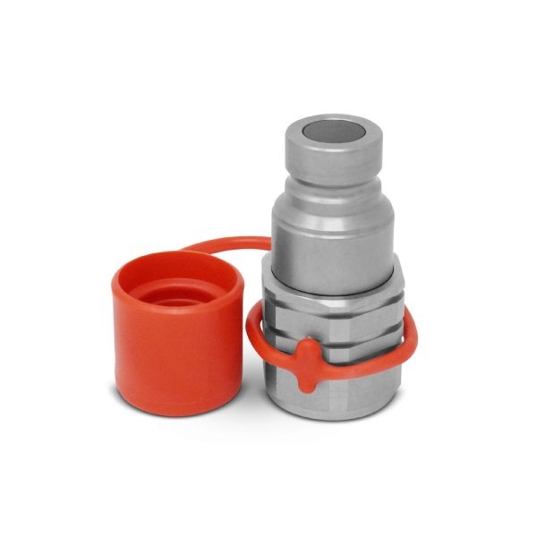 12 Flat Face Male Coupler with Cap