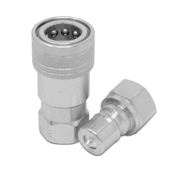 3/8″ ISO 7241-B Quick Disconnect Hydraulic Coupler Set, 1/2″ SAE Thread