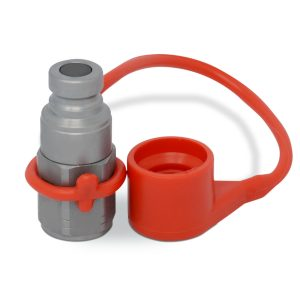 "1/4"" Flat Face Hydraulic Quick Connect Male Coupler, 3/8"" SAE Thread"