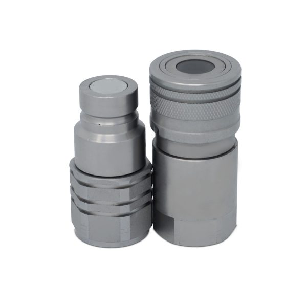 "5/8"" Flat Face High Flow Hydraulic Quick Connect Coupler Set, 3/4"" NPT Thread"
