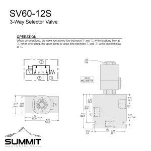 Hydraulic Selector Diverter Valve, 3-Way, #12 SAE Ports, 16 GPM, 12v DC