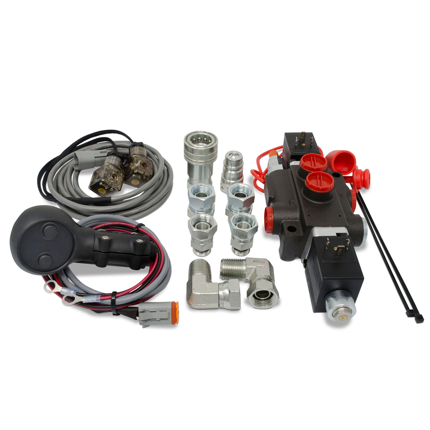 Hydraulic Third Function Valve Kit w/ Joystick Handle for Tractor/Loader,  13 GPM