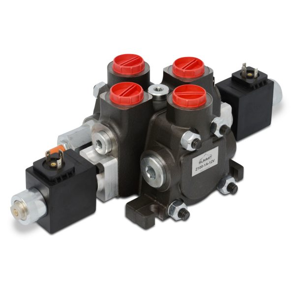 Hydraulic Solenoid Directional Control Valve, Double Acting, 1 Spool, 27 GPM, 12v