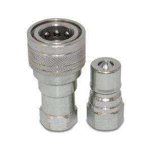 "Kubota 7J417-66220 7J417-66320 Replacement Hydraulic Quick Coupler Set, 3/8"" NPT"