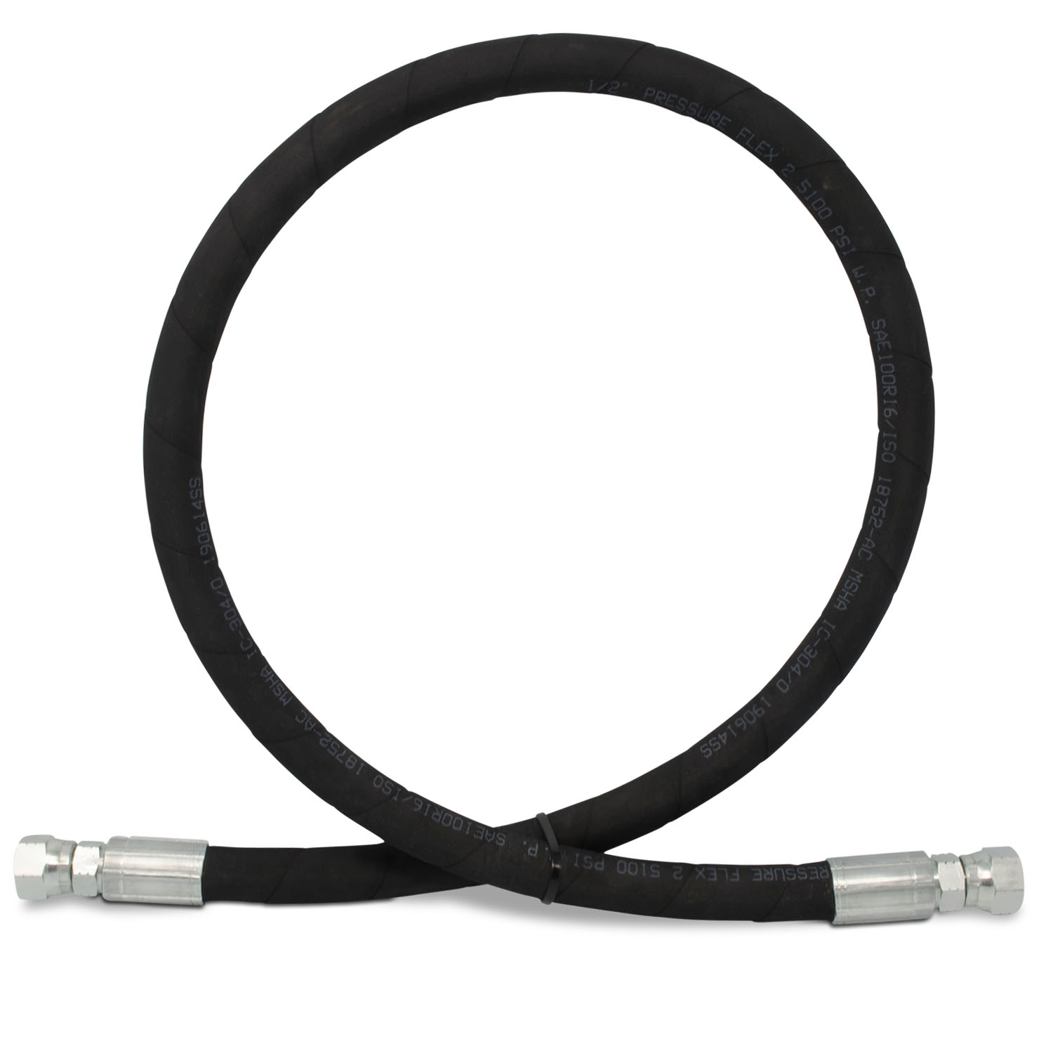 "Hydraulic Hose Assembly 1//2/"" 2 Wire hose"