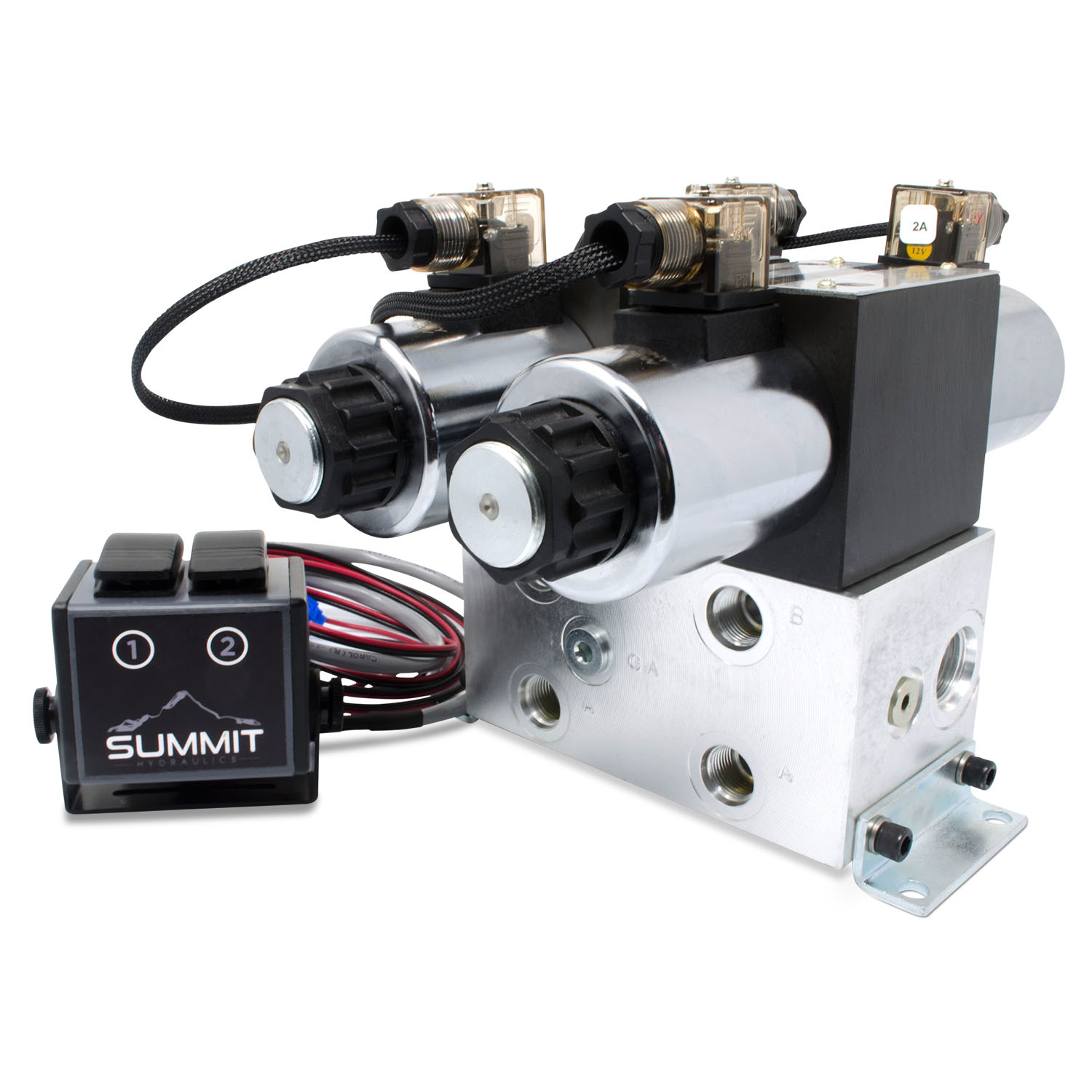 Solenoid Air Directional and Flow Control Valves for Double-Acting Cylinders