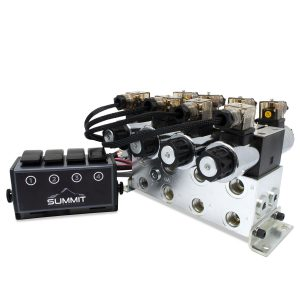 Electric Hydraulic Double Acting Directional Control Valve, 4 Spool