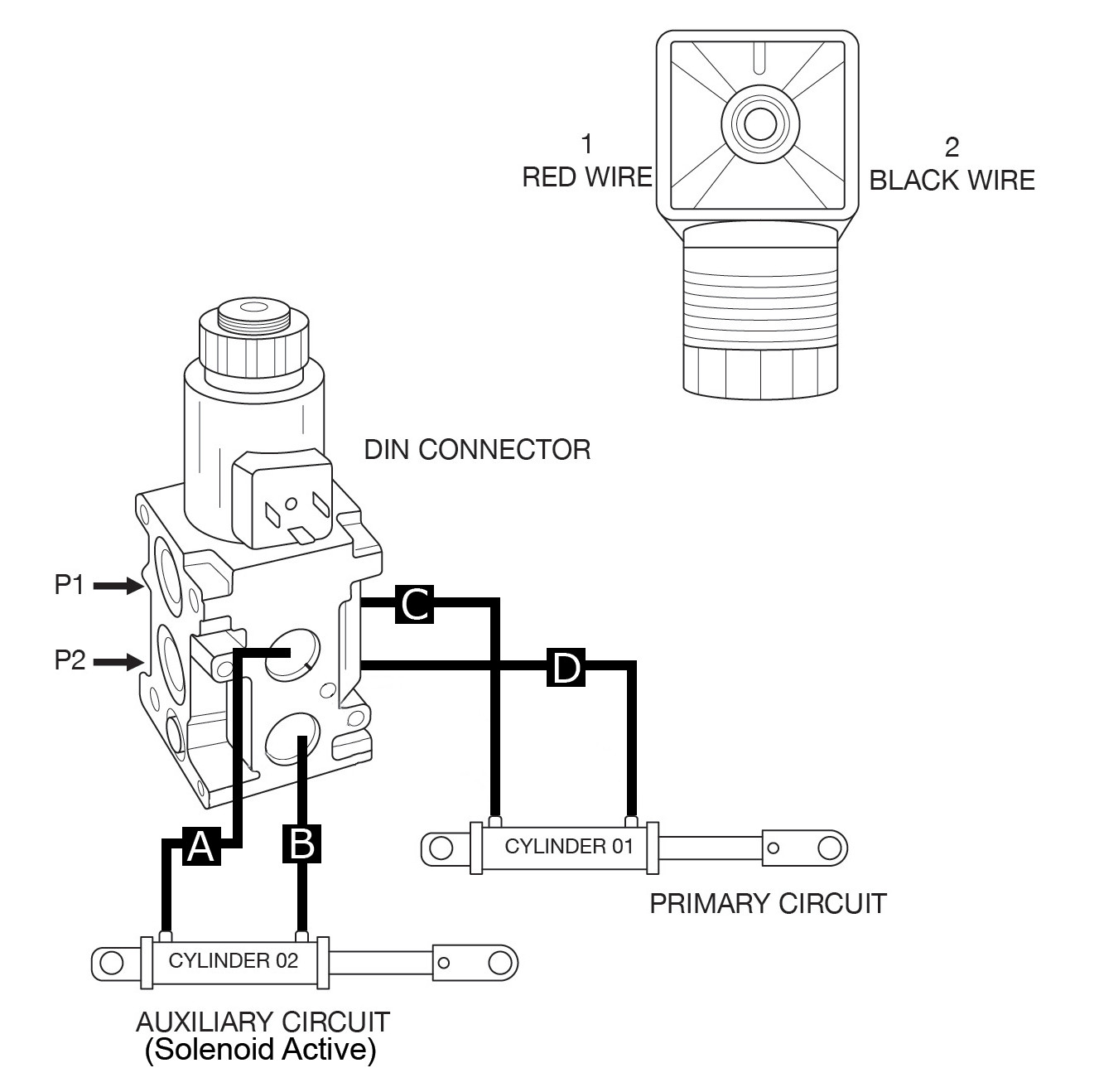 Hydraulic Diverter Selector Valve for John Deere Subcompact Tractors | Hydraulic Control Wiring Diagram |  | Summit Hydraulics