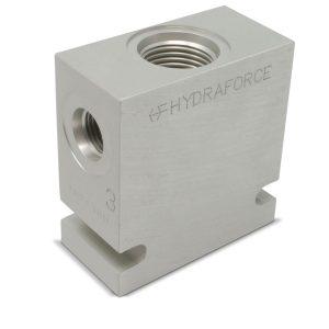 Hydraforce 7024360 Manifold Valve Body Housing, 3-Way, #6 SAE Ports, Size 10