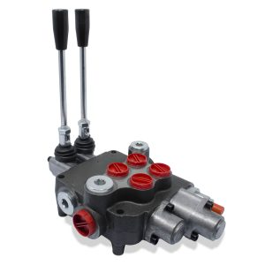 Monoblock Hydraulic Directional Control Valve, 2 Spool w/ Single Float Detent, 21 GPM