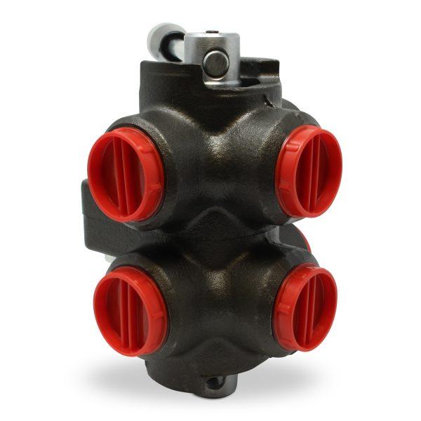 Side View of RDV6-08S rotary diverter valve