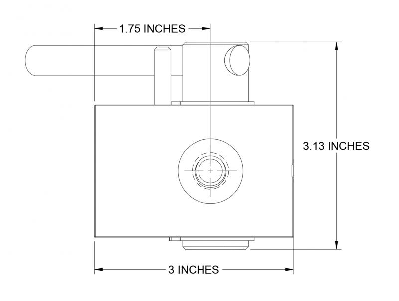 Dimension CAD Diagram of RDV3-12